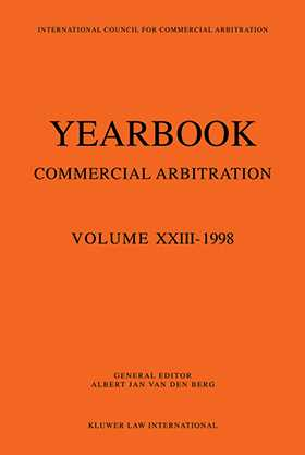 Yearbook Commercial Arbitration Volume XXIII - 1998