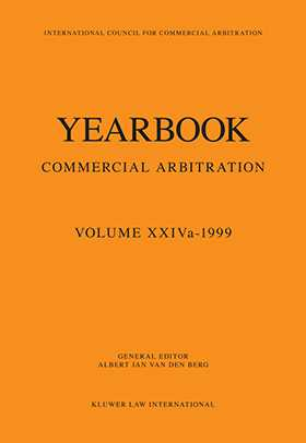 Yearbook Commercial Arbitration Volume XXIVa - 1999