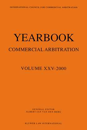 Yearbook Commercial Arbitration Volume XXV - 2000
