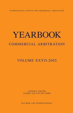 Yearbook of Commercial Arbitration 2002 by