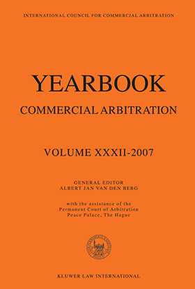 Yearbook Commercial Arbitration Vol XXXII 2007 by VAN DEN BERG