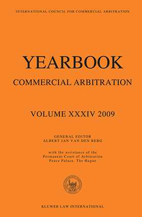 Yearbook Commercial Arbitration Vol XXXIV 2009 by