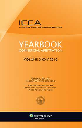 Yearbook Commercial Arbitration Volume XXXV 2010