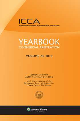 Yearbook Commercial Arbitration, Volume XL 2015