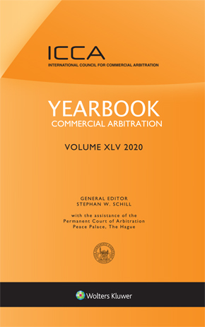 Yearbook Commercial Arbitration Volume-XLV, 2020 by SCHILL
