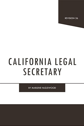 California Legal Secretary - James Publishing