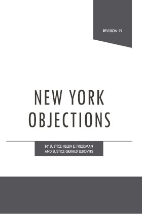 New York Objections - James Publishing
