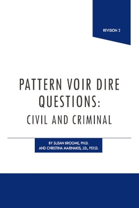 Pattern Voir Dire Questions - James Publishing by Christina Marinakis