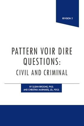Pattern Voir Dire Questions - James Publishing