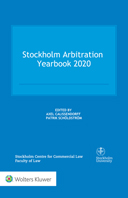 Stockholm Arbitration Yearbook 2020 by SCHOLDSTROM