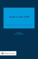 Guide to the GDPR by GAWRONSKI