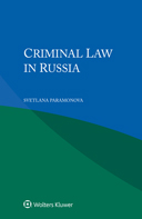 Criminal Law in Russia by PARAMONOVA