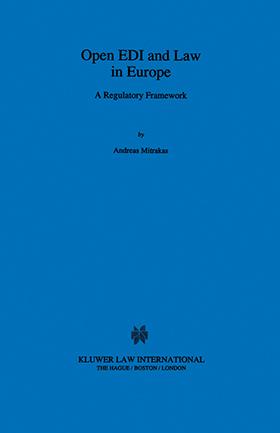 Open EDI And Law In Europe A Regulatory Framework