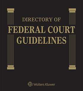 Directory of Federal Court Guidelines