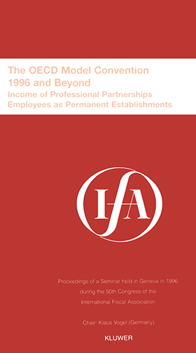 IFA The OECD Model Convention 1996 and Beyond