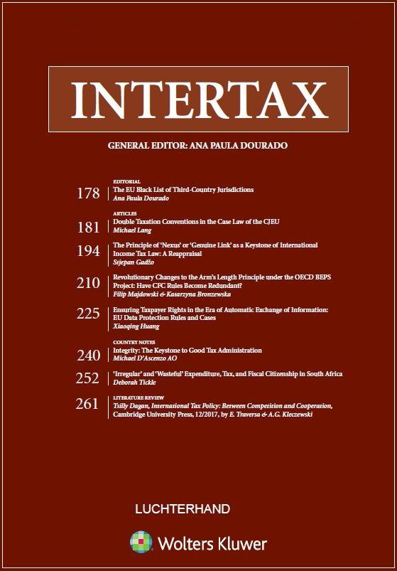 Intertax (Includes EC Tax Review) Combo